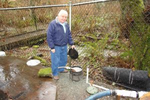 Bill Hagen -original salmon egg incubator; January 26, 2013