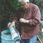 Bill Hagen modifies the intake pipe; 2009