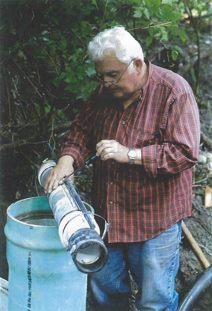 Bill Hagen modifies the intake pipe; 2009
